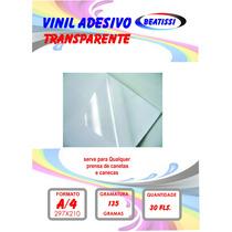 Adesivo Vinil Laser Transparente A4 Pacte. C/ 10 Unid