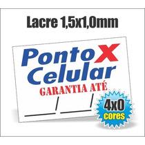 1.000 Lacres De Garantia 1x1,5cm Casca De Ovo / Destrutivel