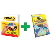 Kit 1 Aplicador + 100 Etiquetas Adesivas Para Cd / Dvd