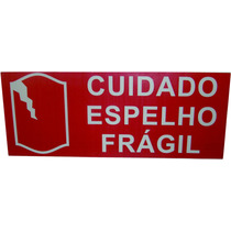 Etiqueta Gigante Cuidado Espelho Fragil 500 Etiquetas