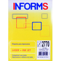 Etiqueta Ink Jet / Laser Para Cd E Dvd 10fl