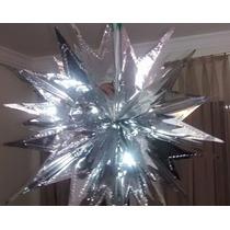 Flocos De Neve Frozen Prata Recorte 50cm