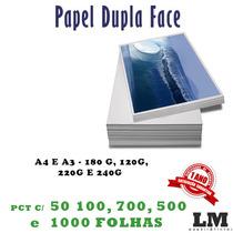 Papel Fosco Dupla Face A4 P/ Jato De Tinta 240gr 100fls