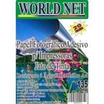 500 Folhas Papel Foto Adesivo Para Imp. Jato De Tinta!