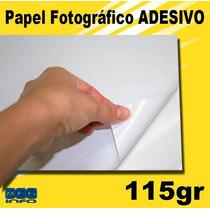 100 Folhas Papel Adesivo Glossy Fotográfico Prova D´água 135
