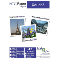 Papel Couche Fosco 150gr/m² A3 (embalagem Com 50 Folhas)