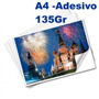 100 Fls Papel Fotografico Adesivo A4 Glossy Brilhante 135 Gr