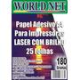 500 Folhas Papel Adesivo Com Brilho Para Impressora Laser