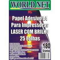 100 Folhas Papel Adesivo Com Brilho Para Impressora Laser