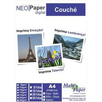 Papel Couche Brilho 115gr/m² A4 (embalagem Com 50 Folhas)