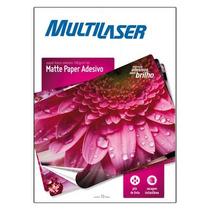 Papel Adesivo Fotográfico A4 10 Folhas 190gr - Multilaser
