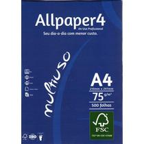 Papel Sulfite A4 Branco Com 500 Folhas Allpaper