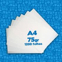 Papel Sulfite A4 75gr (1200 Folhas)