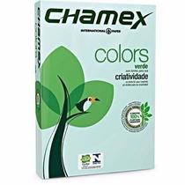 Cx Papel Sulfite Chamex A4 C/10 Resmas 500 Fls Colors Verde