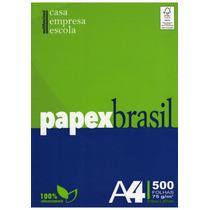 Papel A4 Papex Brasil Pc.500 Folhas Ou Caixa Com 10 Pc.
