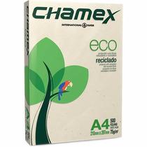 Papel Folha A4 75g Reciclado Chamex Resma De 500 Folhas