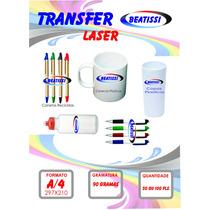 Papel Transfer Laser Para Canecas E Canetas Plasticas !