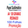Papel Sublimatico, A4 120g Fundo Azul, Pacote 100 Folhas C10