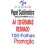 Papel Sublimatico, A4 120g Fundo Azul, Pacote 100 Folhas P3