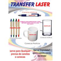 Papel Transfer Laser Para Caneta, Caneca Plástica, Metal Mdf