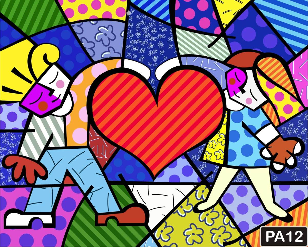 romero britto pop art quadros coloridos r $ 4500 no