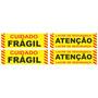 Etiquetas De Segurança - Fragil/lacre (10 Cartelas)