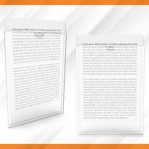 Display Acrílico Parede Porta Folha A4 - Enviamos Em 24h