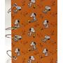 Caderno Pequeno Argolado Fichário Snoopy Laranja 170x230mm