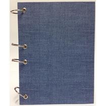 Caderno Pequeno Argolado Fichário Azul 170x230mm 192 Fls