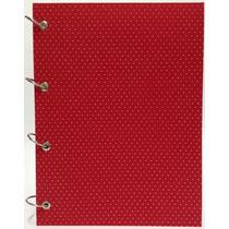 Caderno Universitário Argolado Fichário Poá Vermelho 192 Fls