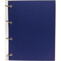 Caderno Universitário Argolado Fichário Poá Azul 192 Fls