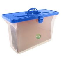 Arquivo Empilhável Azul Com 6 Pastas Suspensas Kraft - Dello