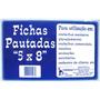 Ficha Pautada 5x8 - Tamoio - Pacote Com 100 Fichas