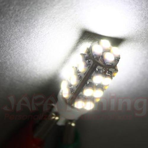 Par De Lampadas Super Pingo 28 Leds Branca Xenon 45x Brilho