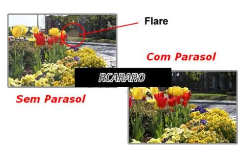 Parasol 3 Estagios 52 55 58 67mm P/ Cameras Canon Nikon Sony