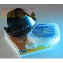 Nikon D5200 D3200 Parasol Filtro Uv Polarizador 18-55mm 52mm