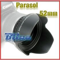 Parasol 52mm Tulipa Lente Nikon 18-55mm D5100 D3200 * Biina