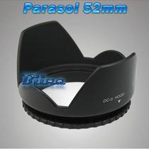 Parasol Tulipa 52mm Lente Nikon 18-55mm D5100 D3200 D90 D
