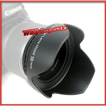 Parasol 58mm Tulipa Canon 1100d 650d 550d 600d 500d 450d Wb2