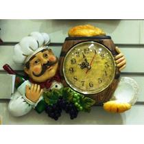 Relógio De Parede E Cozinha Gourmet Coleção Cozinheiro