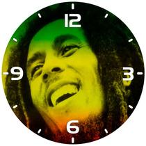 Relógio Parede Decoração Rock Reggae Bob Marley