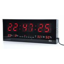Relógio De Parede Grande Painel Led Digital Calendário Hora