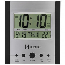 Relógio Parede Herweg 6288 034 Digital Termômetro - Refinado