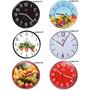 Kit Com 6 Relógios De Parede Haller Sala Cozinha Atacado