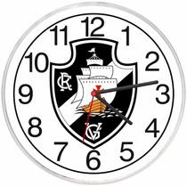 Relógio De Parede Vasco Da Gama Decorativo Times De Futebol