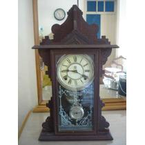 Relógio Antigo De Parede Water Bury Original E Perfeito