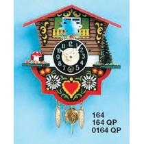 Relógio Pendulo Pilha C/ Chamada Cuco Casa Suiça 12cm 0164qp