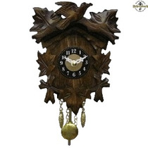 Relógio Pêndulo A Pilha Com Som Cuco Pássaro Folhas 0125/1qp