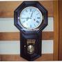 5397- Relógio Carrilhão Corda Madeira Gravatinha Novo Herweg