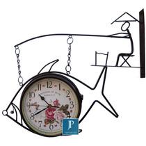 Relógio De Estação; Relógio De Parede Em Formato De Pescador